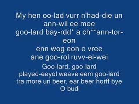 How to learn the Welsh National Anthem
