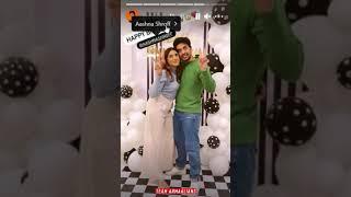 Happy Birthday Aashna Shroff 💚 Armaan Malik #shorts