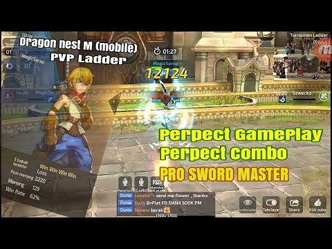 Pro Combo Sword Master MagicSarap PVP Ladder ratting 2220  Dragon Nest M  DNM S1 Server