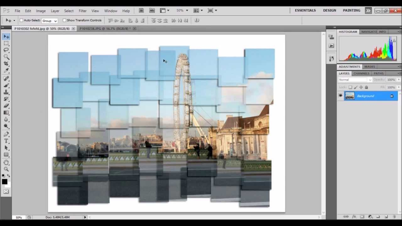 How to create a digital photo montage inspired by david hockney.