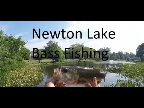 Bass Fishing At Newton Lake