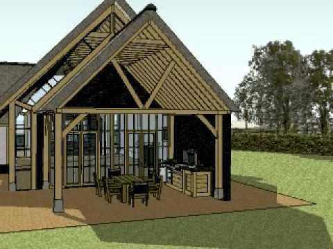 Eiken constructie eiken gebint in vrijstaande villa en eiken bijgebouw van youtube - Steen en constructie ...