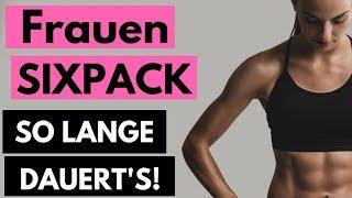Bauchmuskeln Frauen - Wie lange dauert es bis zum Sixpack?