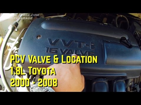 Toyota 18L PCV Valve Location - Positive Crankcase Ventilation