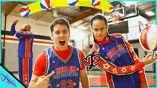 Challenging HARLEM GLOBETROTTERS to Trick Shot H.O.R.S.E.! (Trying Out For Team Part 2)