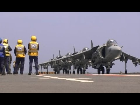 USMC Harriers On HMS Illustrious