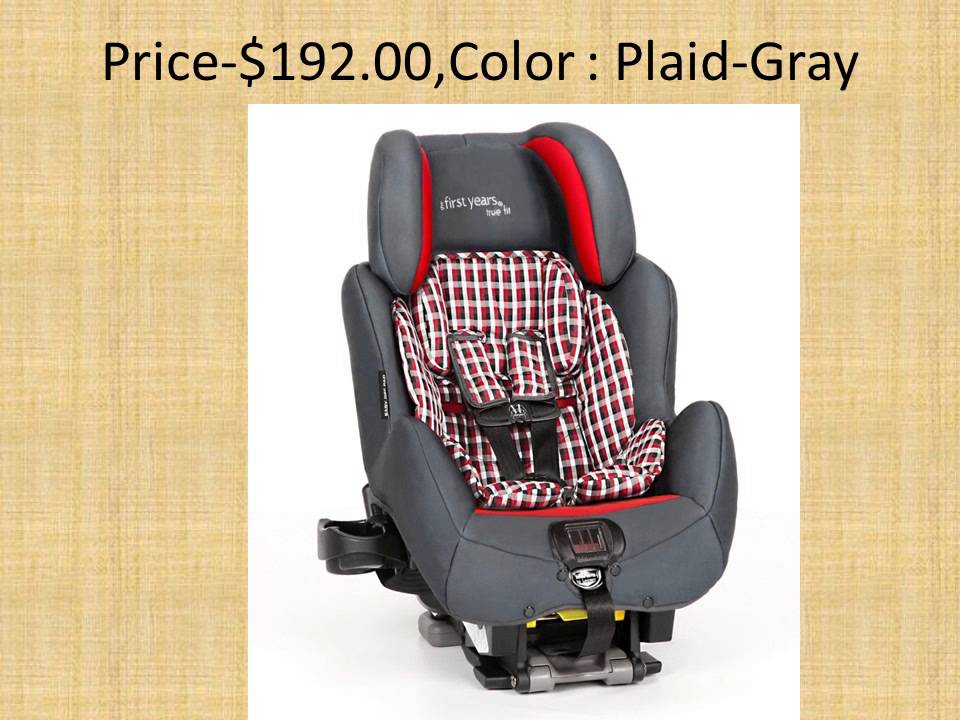 The First Years True Fit SI C680 Car SeatPlaid Gray