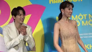 Hari Won bận rộn 'rao bán' Anh Đức, mai mối em gái Trấn Thành tại ra mắt phim Oppa, Phiền Quá Nha