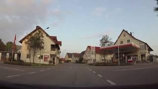 Autofahrt durch Westerheim auf der Schwäbischen Alb