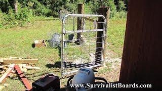 Working On The Chicken Yard Gate