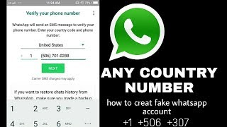 How To Create Whatsapp Account With Fake Number||latest2018||Technical Farhan