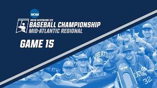 2018 NCAA DIII Baseball Mid-Atlantic Regional - GAME 15