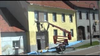 Renovace a nátěr staré fasády