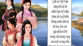 Tứ đại mỹ nhân Việt Nam ( kiến thức lịch sử Việt Nam )