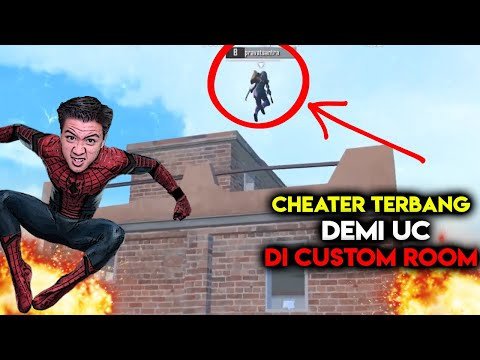 ASTAGA CHEATER ANTI BANNED DI CUSTOM ROOM TERBANG LAGI PUBG MOBILE INDONEDIA