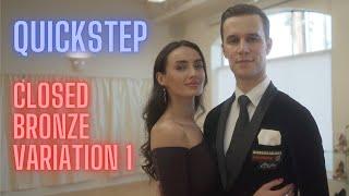 Quickstep Basic Syllabus Closed Bronze Variation 1 by Iaroslav and Liliia Bieliei