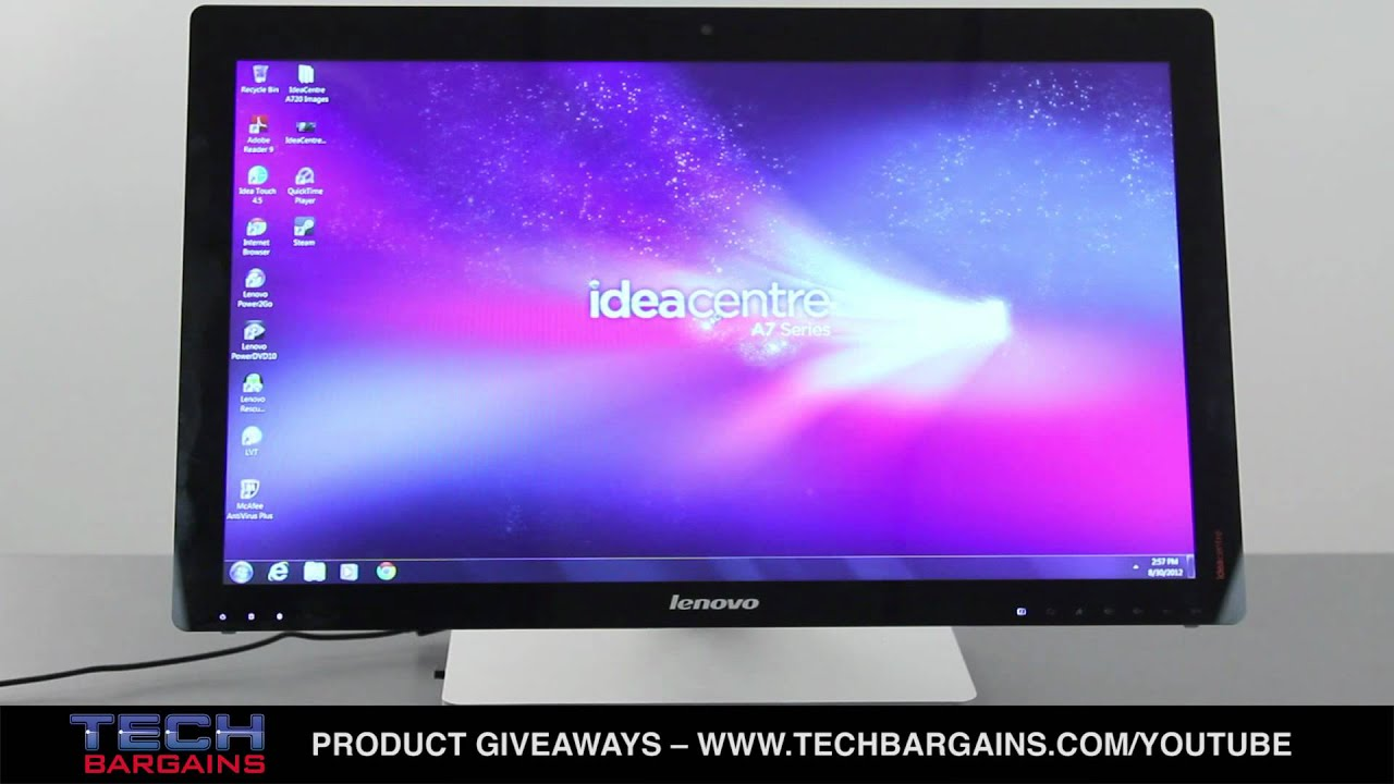 Lenovo IdeaCentre A720 All in One Desktop Video Review (HD)