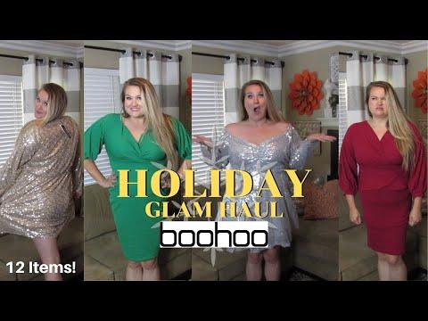 plus-size-haul---boohoo-holiday-glam-party-dress-haul