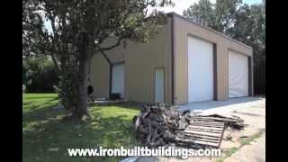 Metal Garage Building Customer Review And Video Testimonial Ironbuilt Steel Buildings