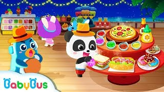 Baby Panda's Summer Vacation | Baby Panda Hotel | Cooking Game, Surfing, Sand Castle | BabyBus Game