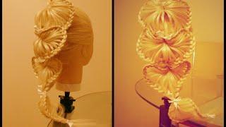 Коса сердечная. Плетение Скат. Украшаем бусинами.  Видео-урок.(Красивая причёска. Коса с бусинами. Плетение Скат. Все причёски на канале: https://www.youtube.com/channel/UCDZzyw0sk9Fb1mYJsGvLVKg..., 2015-09-11T13:06:47.000Z)
