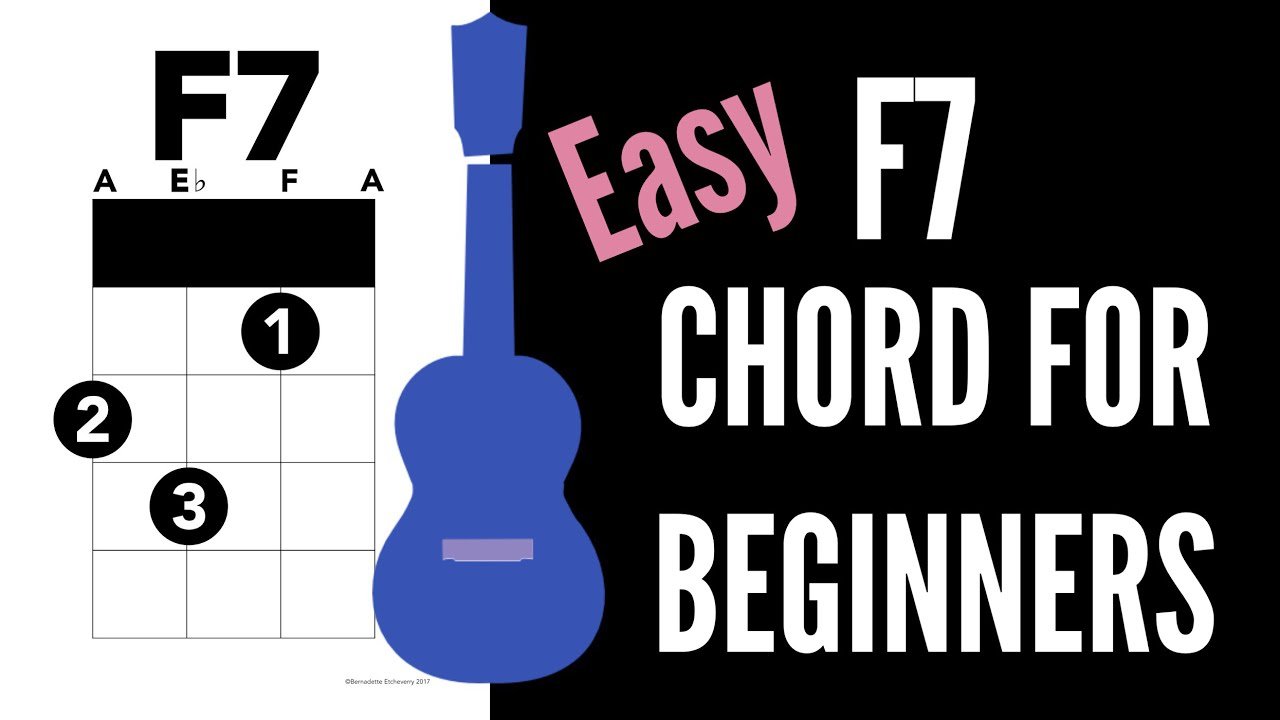 How To Play F7 Easy Tutorial Ukulele School Youtube