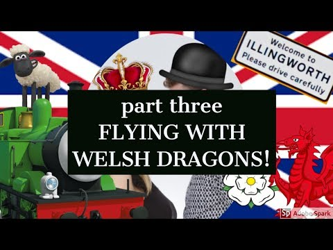 TRAVEL EDITION part 3// FLYING WITH WELSH DRAGONS! (subtitled)