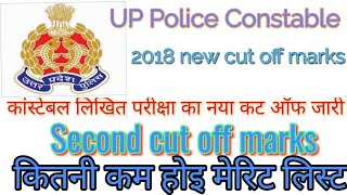 #UPPolice second cut off | up police Constable second cut off marks | Jane kitni Kam hoi Cut Off