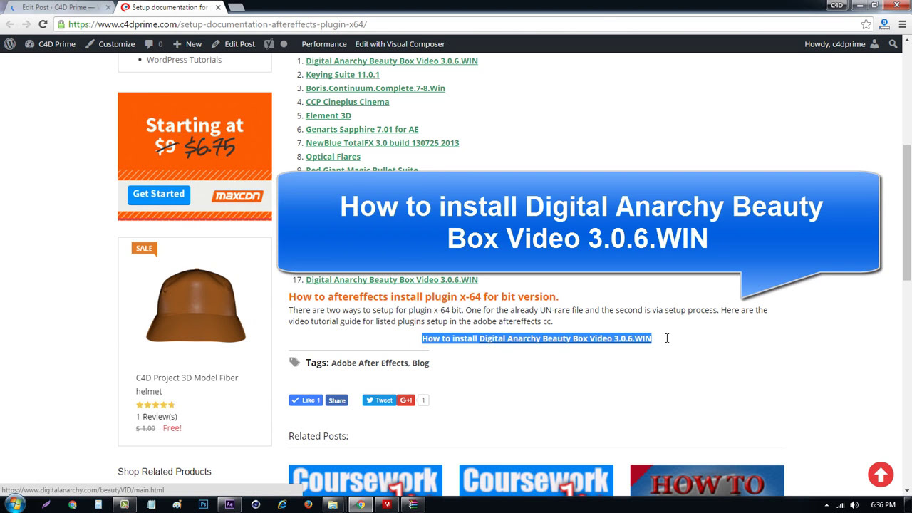 How to install Digital Anarchy Beauty Box Video 3 0 6 WIN