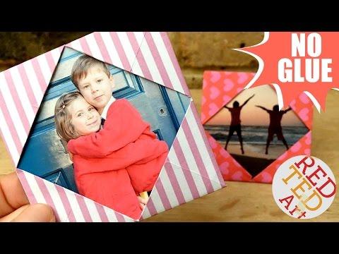 Easy Paper Photo Frame - NO GLUE - Inexpensive Room Decor DIY - Card DIY