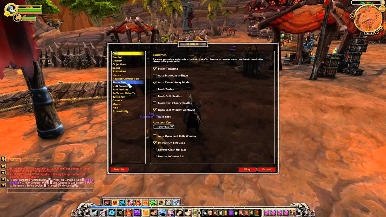 How To Enable Detailed Status Bar Pet In Wow Youtube