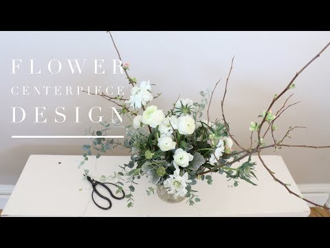 FLOWER CENTERPIECE DESIGN | Natural, Abstract & Whimsical!