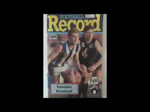 1991 AFL Round 17 - Essendon vs Richmond - 3AW Radio