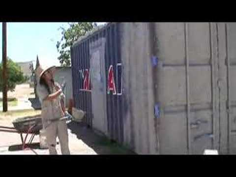 HowTo Stucco a Metal Shipping Container