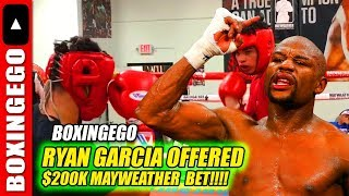 FIGHT TMT ROLLY $200,OOO - MAYWEATHER BETS RYAN GARCIA! THEN GET TANK DAVIS!!
