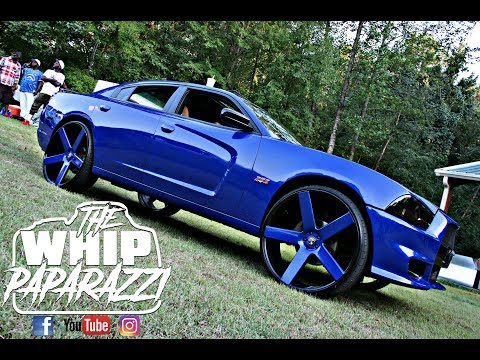 """Candy Blue Hemi Dodge Charger on 28"""" Dub Ballers"""