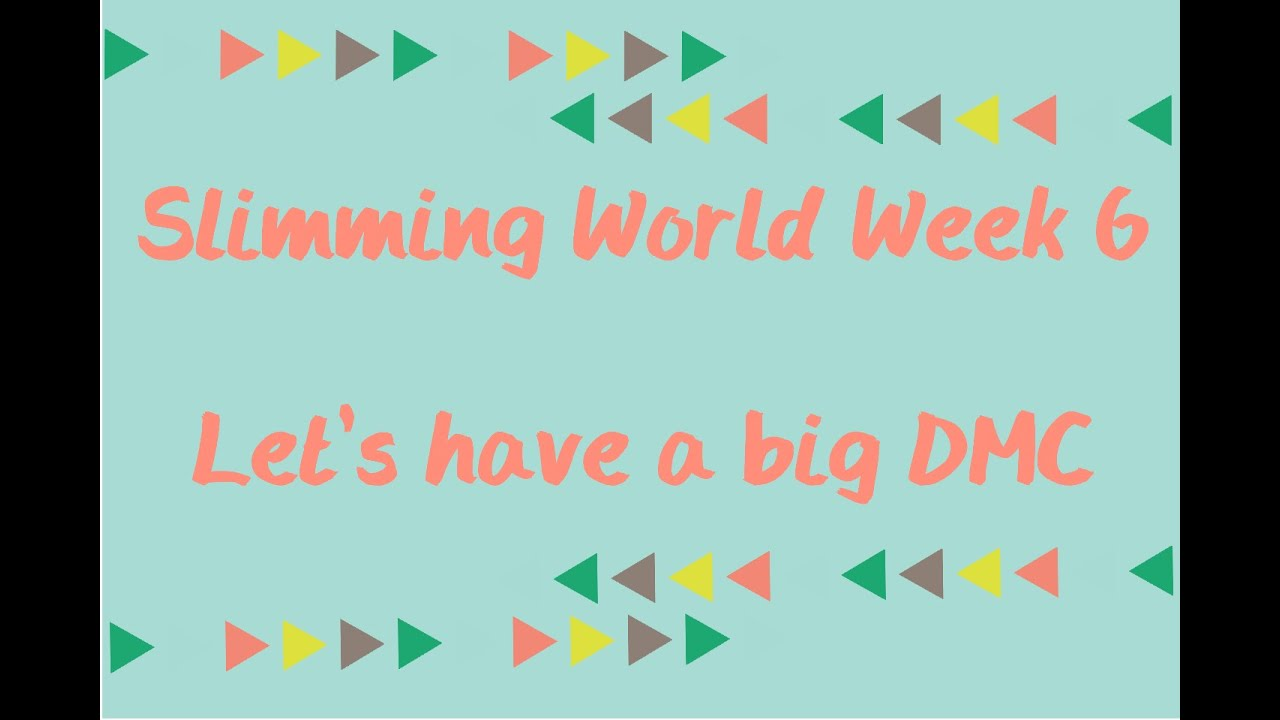 Slimming World Wk6 Weigh In A Good Loss And A Dmc