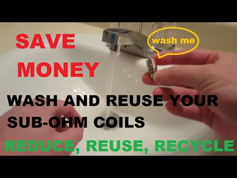 How to clean you coils, wash and reuse sub ohm coils Save your money