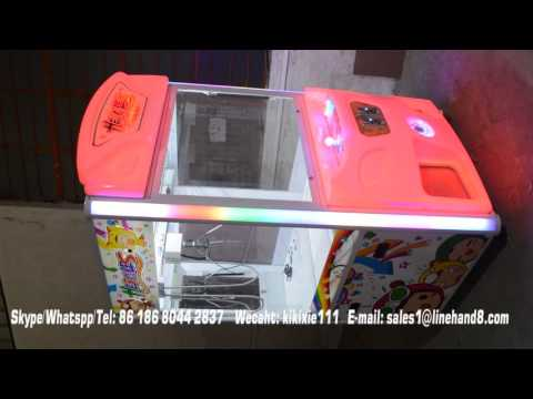 luxury crane claw coin operated prize machine/key master kids crane games from Kiki