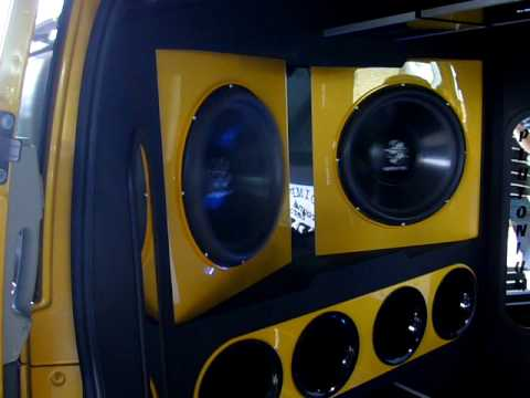 ground zero audio demo car mb vito youtube