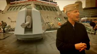 USS Detroit commanding officer guides a tour of new warship