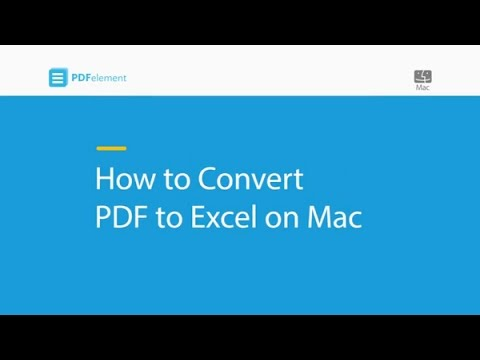 wondershare pdf to excel mac