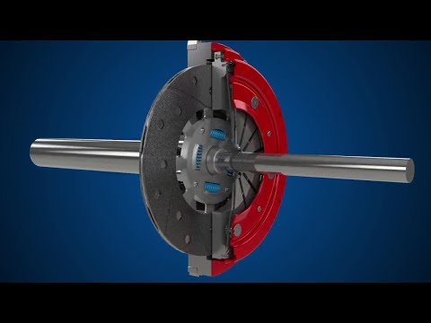 How a clutch works. (3D Animation).