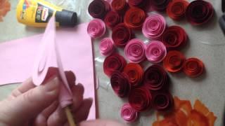 Бумажные розы легко и очень быстро за 5 минут своими руками из цветной бумаги(Покажу как очень легко и быстро можно сделать бумажную розу из цветной бумаги всего за 5 минут., 2015-03-11T11:39:40.000Z)