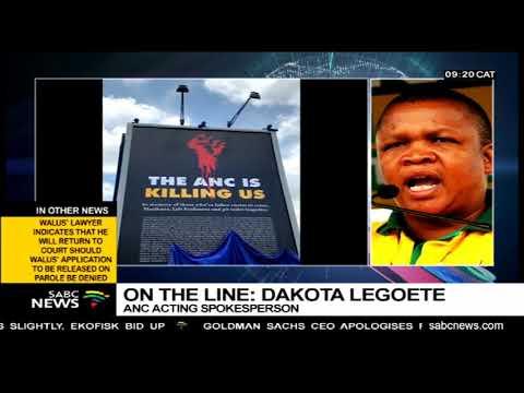ANC reacts to DA billboard