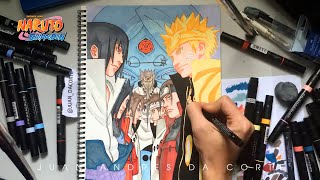 🍃NARUTO AND SASUKE👁 REINCARNATIONS 🔄 Speed Drawing 🎨