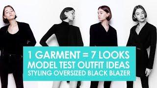 Styling oversized blazer | 1 garment = 7 looks | Model test shoot outfit ideas Fashion photoshoot