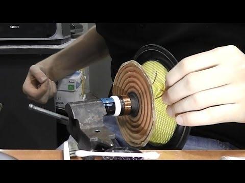 видео: Ремонт динамика / Как перемотать катушку динамика. Колонки thonet vander kugel