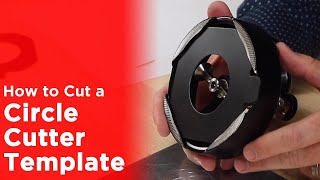 Adjustable Circle Cutter Setup and Cutting the Centering Template - American Button Machines