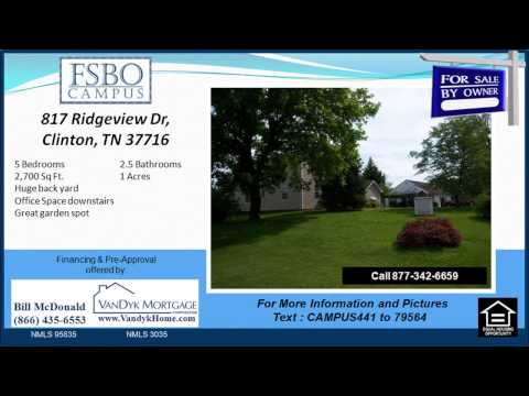 5 bedroom House for Sale near South Clinton Elementary School in Clinton TN